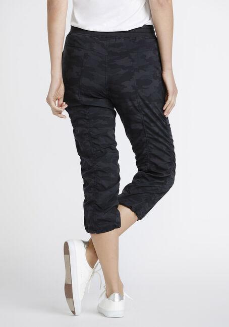 Women's Camo Print Capri, BLACK, hi-res