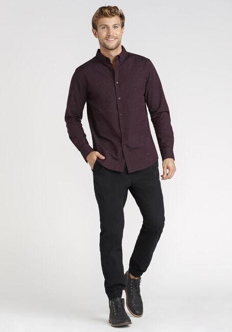 Men's Spacedye Shirt, Dark Burgundy, hi-res
