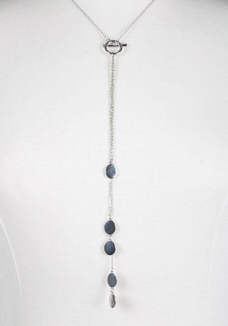 Ladies' Toggle Necklace, RHODIUM, hi-res