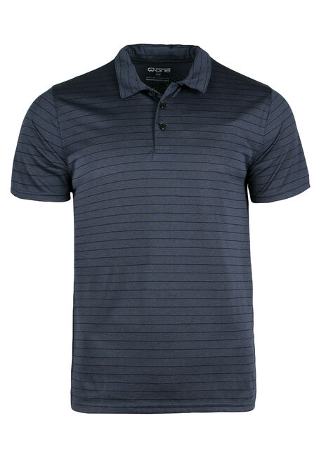 Men's Athletic Striped Polo