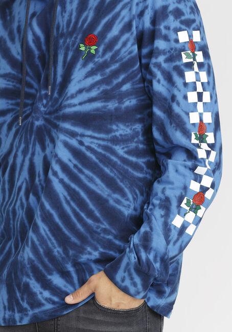 Men's Tie Dye Rose Hooded Tee, NAVY, hi-res