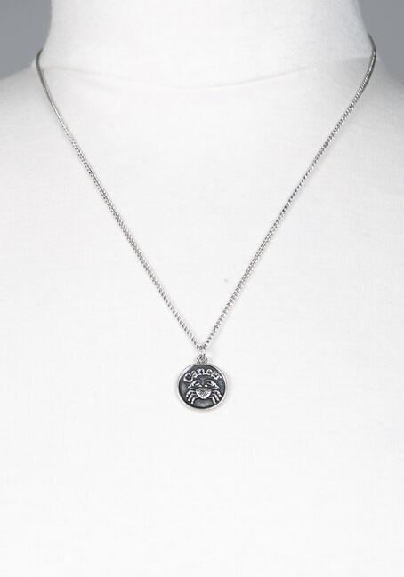 Cancer Pendant Necklace, SILVER, hi-res