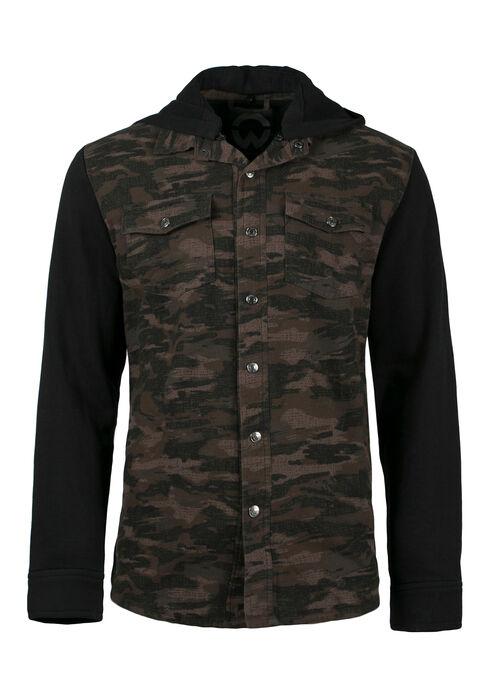 Men's Camo Jacket, DARK OLIVE, hi-res