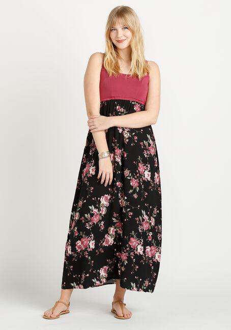 Women's Colour Block Maxi Dress