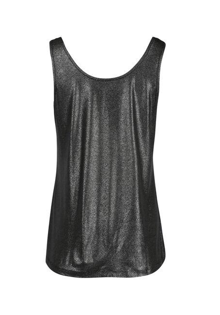 Ladies' Shimmer Tank, BLACK/SILVER, hi-res