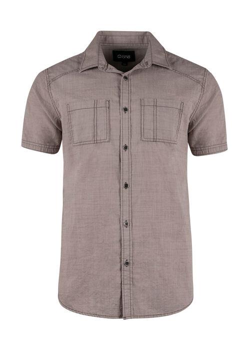 Men's Textured Shirt, SAND, hi-res