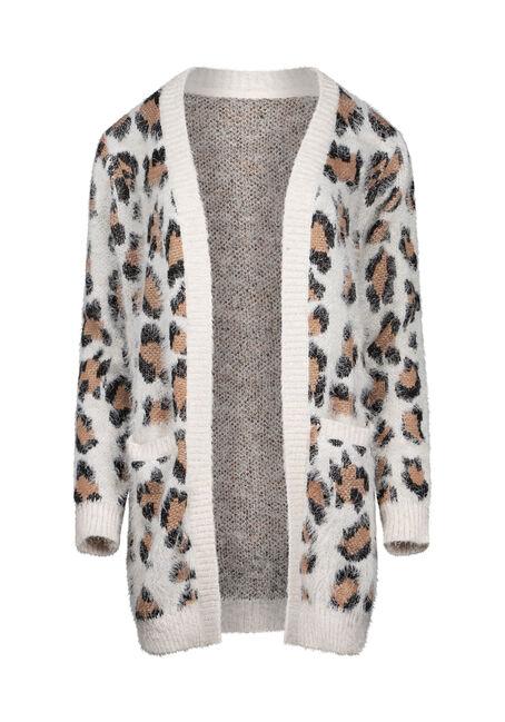 Women's Leopard Feather Yarn Cardigan