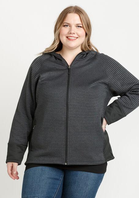 Women's Hooded Fleece Jacket, CHARCOAL, hi-res