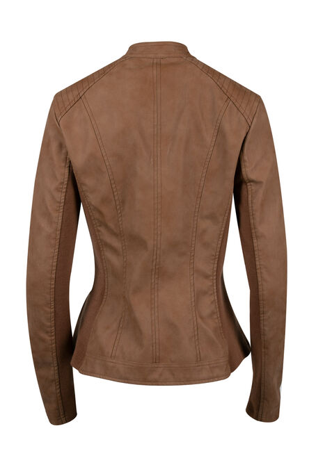 Women's Moto Jacket, TOFFEE, hi-res