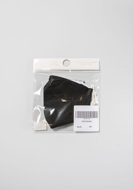 Solid Face Mask, BLACK, hi-res