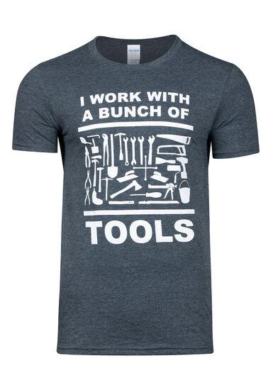 Men's Bunch of Tools Graphic tee, DARK HEATHER, hi-res