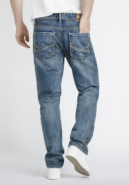 Men's Relaxed Straight Jeans, MEDIUM WASH, hi-res