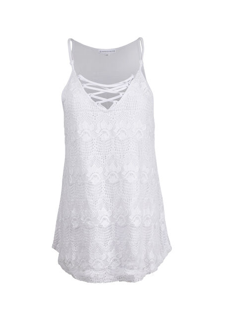 Ladies' Cage Neck Lace Tank
