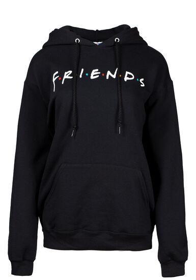 Women's Friends Hoodie, BLACK, hi-res