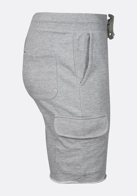 Men's Cargo Knit Jogger Short, GREY MELANGE, hi-res