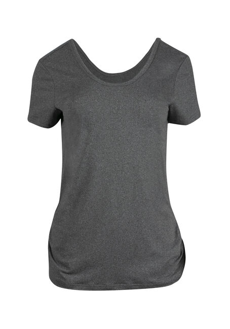 Women's Scoop Neck Ruched Side Tee