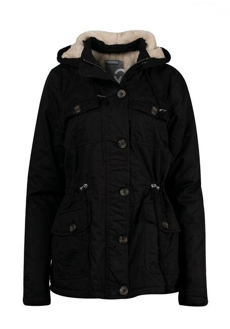 Ladies' Plus Size Hooded Anorak Jacket