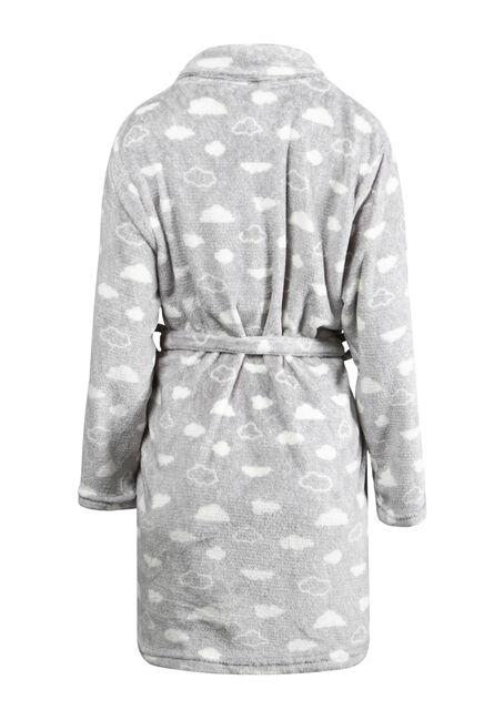 Women's Sweet Dreams Robe and Mask Set, GREY, hi-res