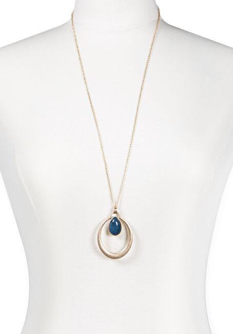 Women's Open Tear Drop Necklace