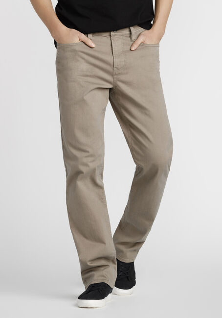 Men's Slim Straight Khaki Jeans