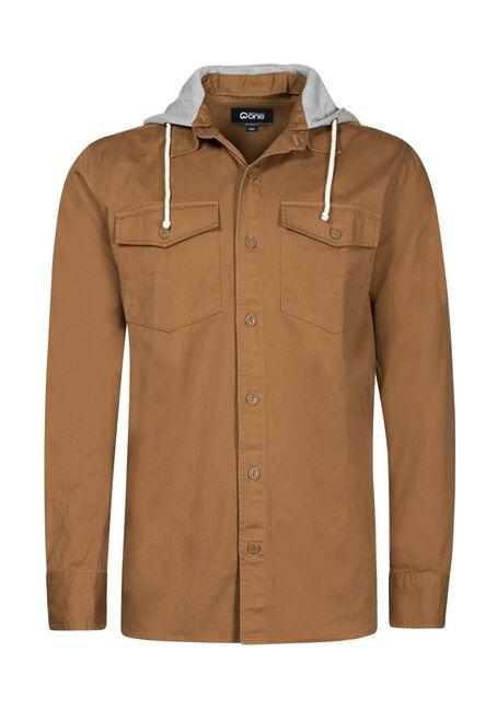 Men's Canvas Work Shirt, TOBACCO, hi-res