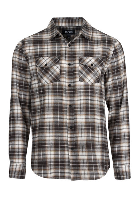 Men's Relaxed Flannel Plaid Shirt