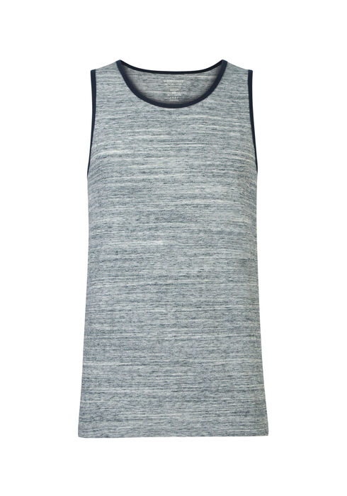 Men's Space Dye Ringer Tank, TEAL, hi-res