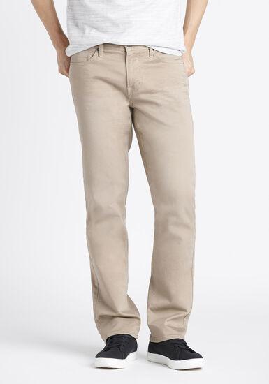 Men's Slim Straight Jeans, KHAKI, hi-res