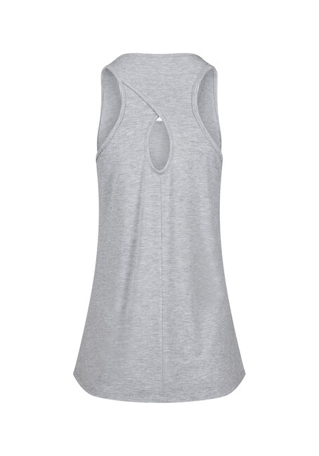 Women's Happy Hour Keyhole Tank, HEATHER GREY, hi-res
