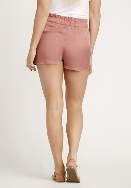 Women's Paper Bag Waist Soft Short, PINK, hi-res