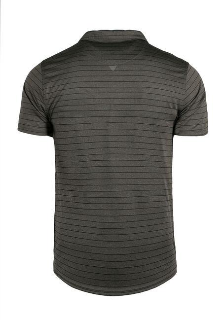 Men's Athletic Striped Polo, Olive, hi-res