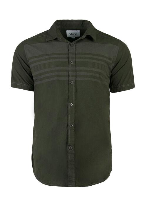Men's Stripe Shirt, DARK OLIVE, hi-res