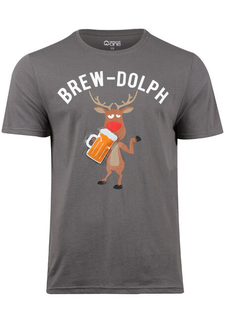Men's Brew-Dolph Light Up Tee