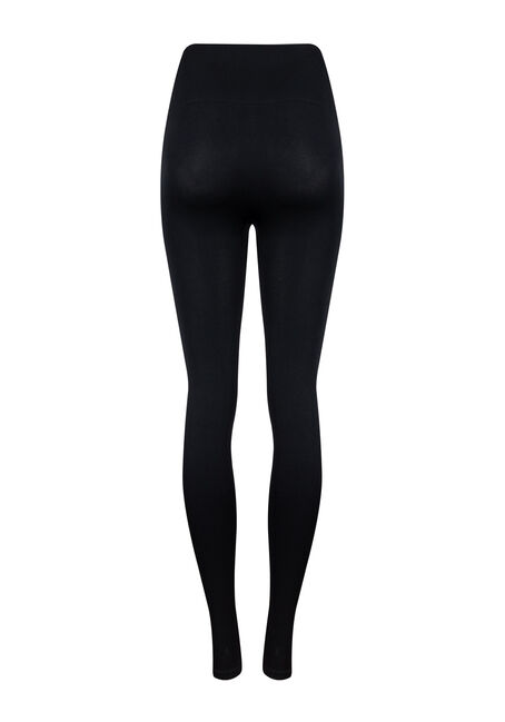 Women's High Waist Shape Wear Legging, BLACK, hi-res