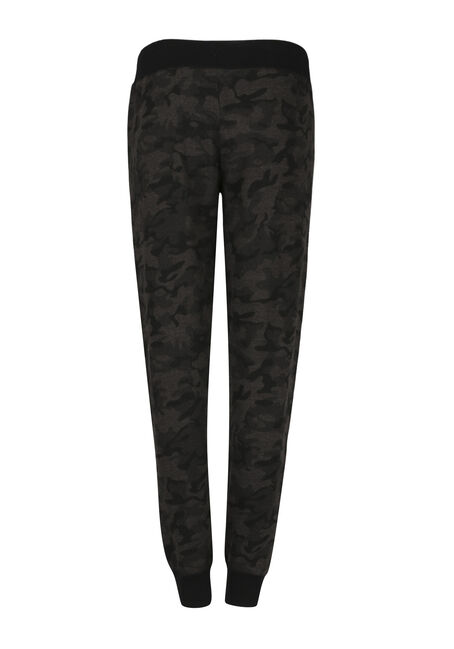 Ladies' Camo Jogger, BLACK, hi-res