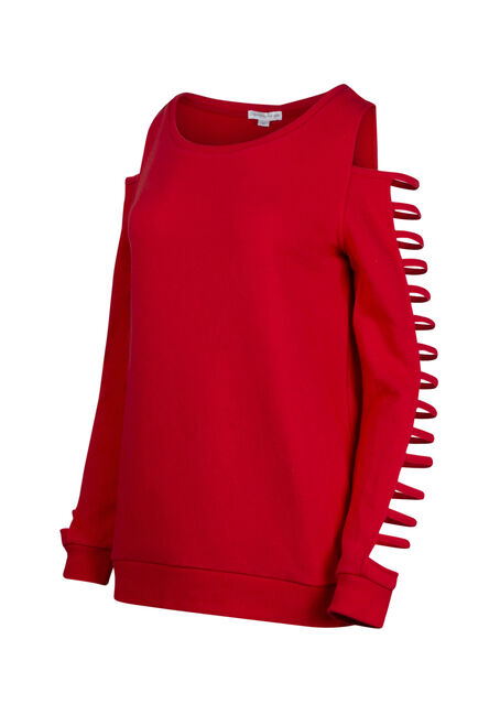 Women's Ladder Sleeve Fleece, RED SEA, hi-res