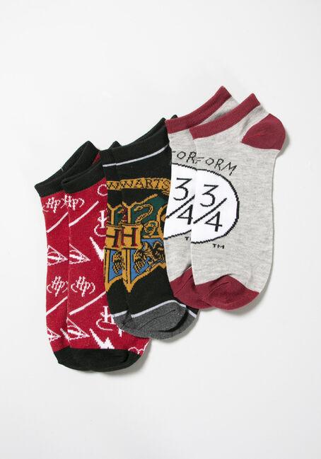 Women's Harry Potter 3pk Ankle Socks, MULTI, hi-res