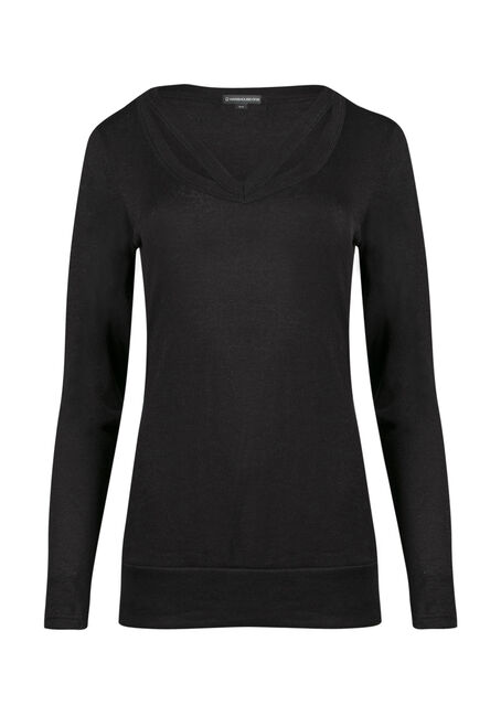 Ladies' Split Neck Tunic Top