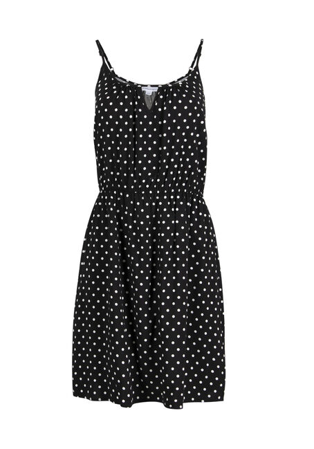 Women's Polka Dot Keyhole Dress