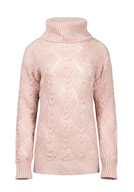Women's Pointelle Turtleneck Sweater