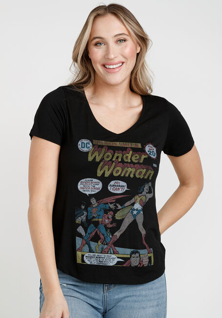 Women's Wonder Woman V Neck Tee