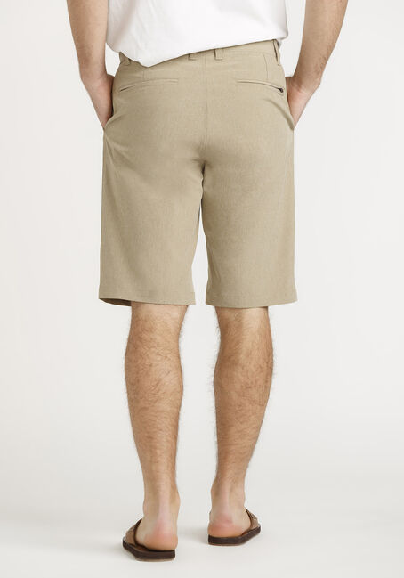 Men's Poly Catonic Shorts, TOBACCO, hi-res