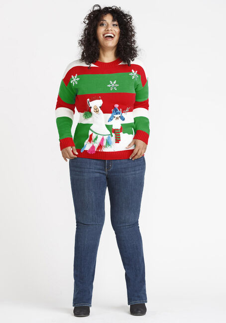 Women's Llama Sweater, MULTI, hi-res