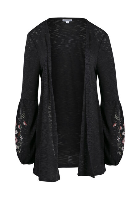 Women's Embroidered Balloon Sleeve Cardi