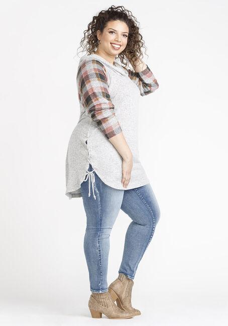Women's  Cowl Neck Tunic, GREY, hi-res