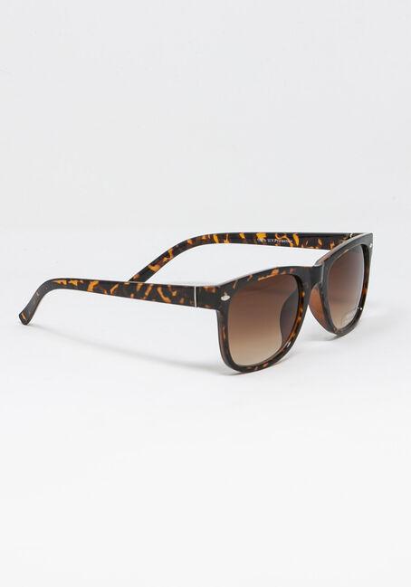 Women's Tort Wayfarer Sunglasses, BROWN, hi-res