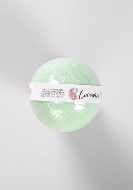Bath Bomb Cucumber Melon, GREEN, hi-res