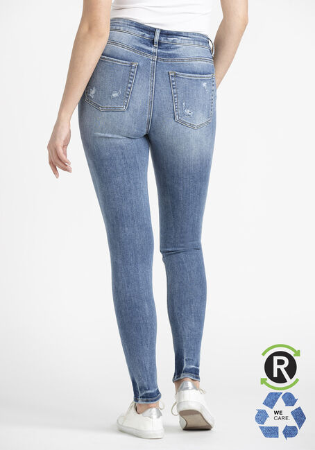 Women's Light Wash High Rise Skinny Jeans, LIGHT WASH, hi-res