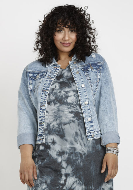 Women's Marble Wash Jean Jacket