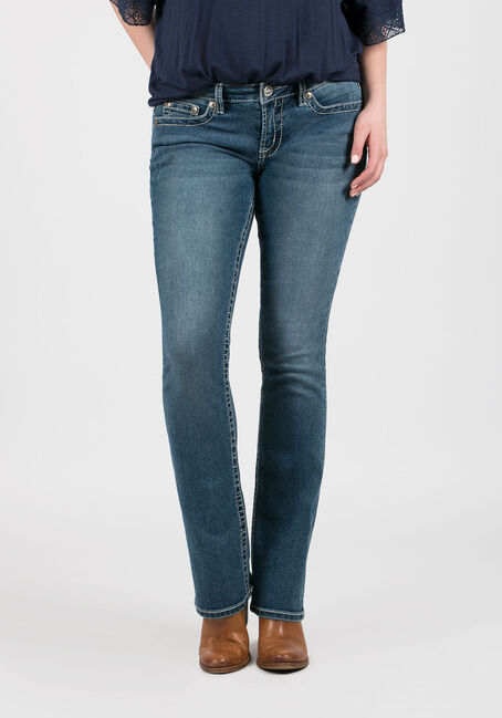 Women's Antique Wash Baby Boot Jeans